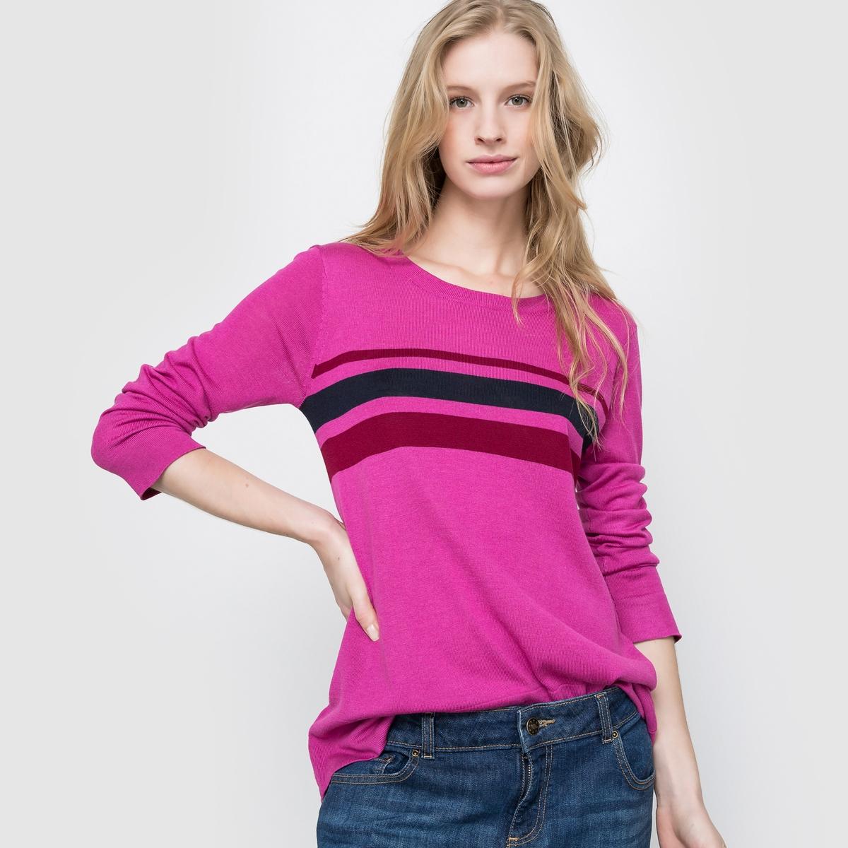 Пуловер в полоску. Длинные рукава