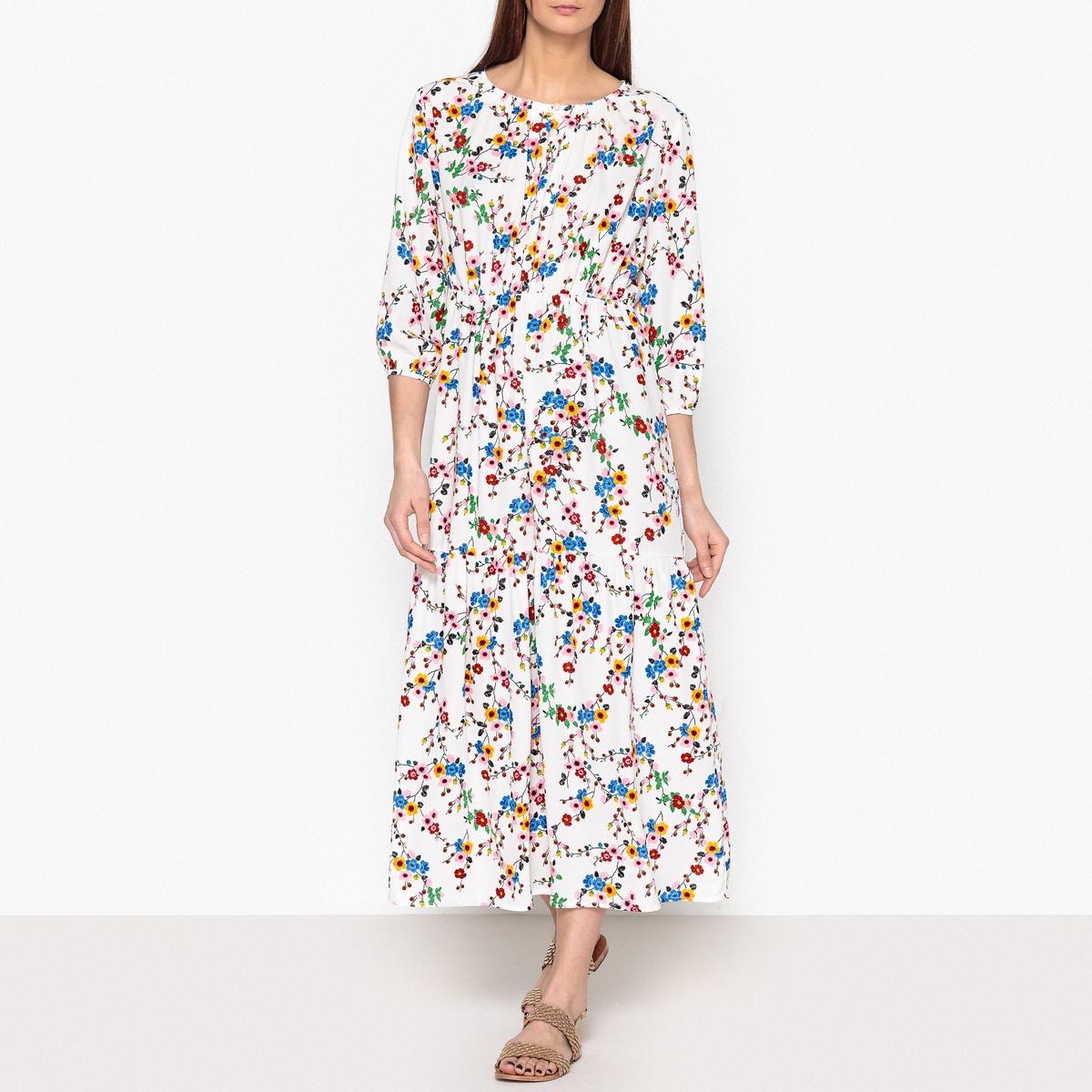 все цены на Платье длинное с рисунком и эластичным поясом JACKSON онлайн