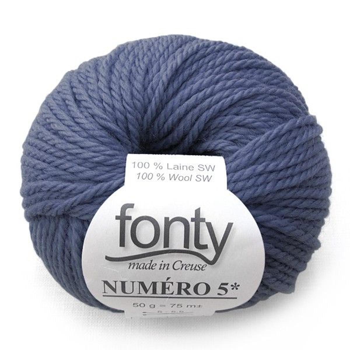 Laine à Tricoter Numero 5 De Fonty, Col.chardon 217