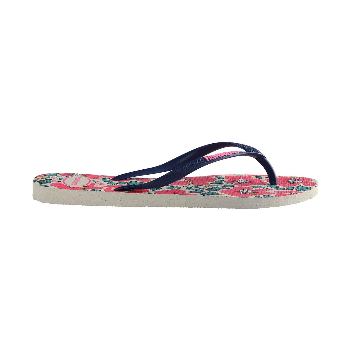 Вьетнамки Slim FloralВерх : каучук   Стелька : текстиль   Подошва : каучук   Форма каблука : плоский каблук   Мысок : открытый мысок   Застежка : без застежки<br><br>Цвет: цветочный рисунок