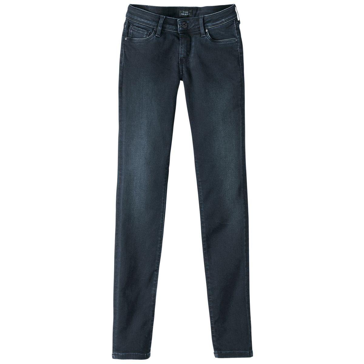 Jean skinny lola brut délavé-bleu