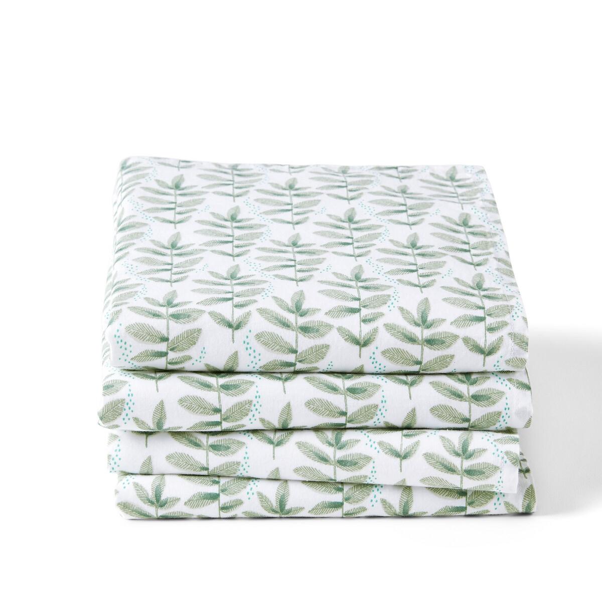 Комплект из 4 столовых полотенец La Redoute Evergreen 45 x 45 см зеленый комплект из столовых салфеток la redoute из стираного хлопка twinkle 45 x 45 см каштановый