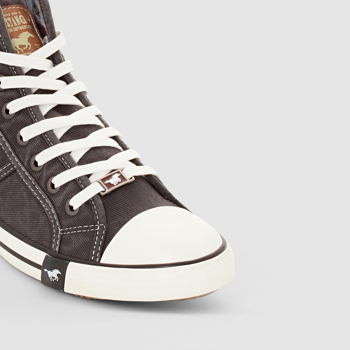 Кеды высокие 4058504Верх : хлопок         Подкладка : хлопок         Стелька : хлопок         Подошва : Каучук         Застежка : Шнуровка<br><br>Цвет: черный