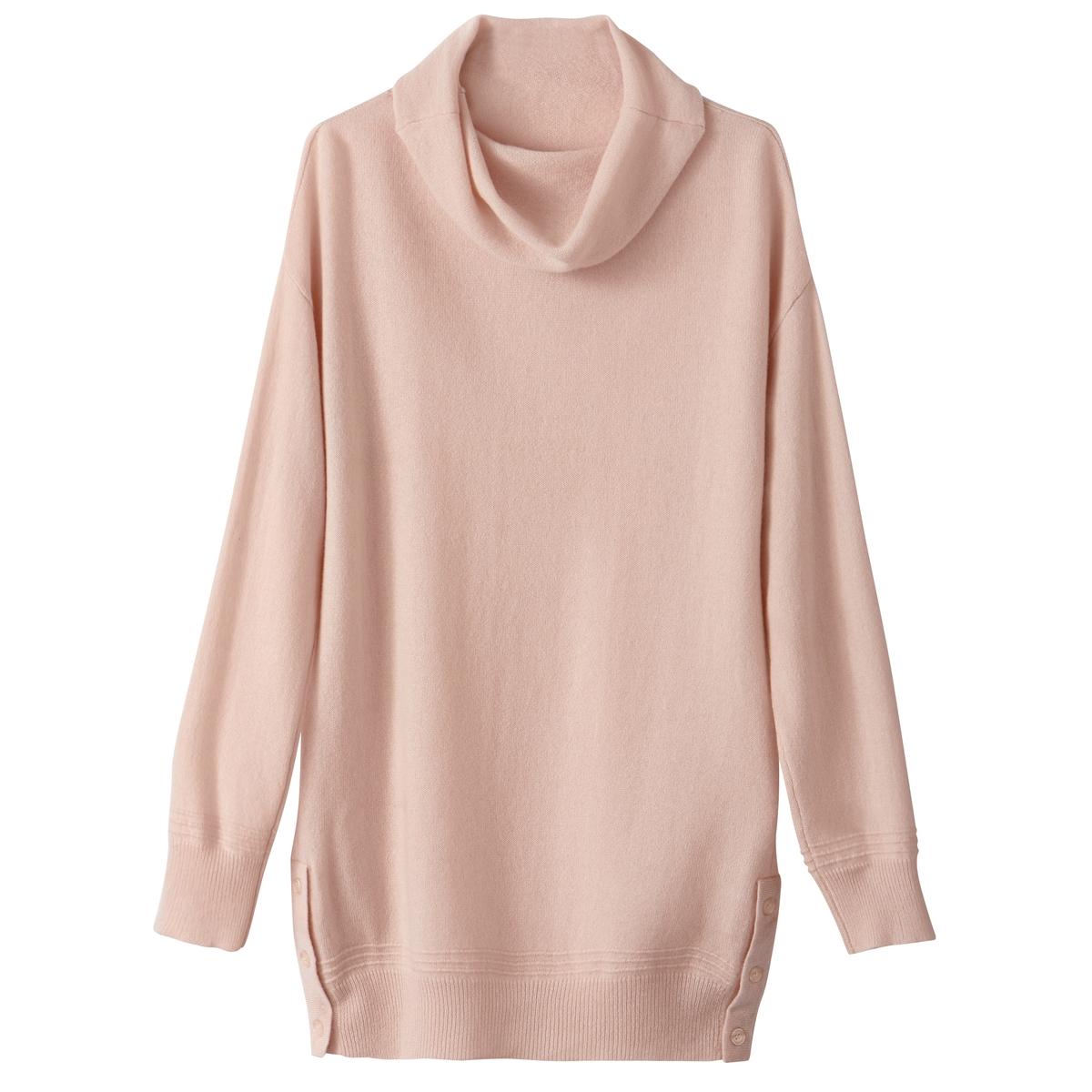 Пуловер с воротником-хомутом из кашемира пуловер свободный с воротником с отворотом plunkett