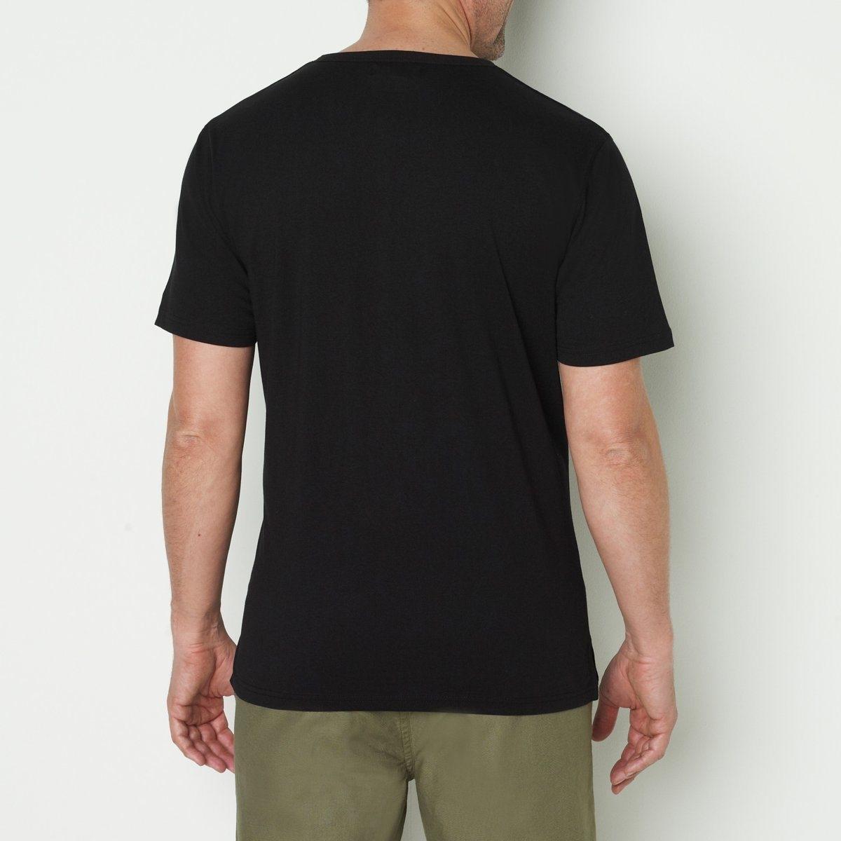 Castaluna-For-Men-Uomo-Tshirt-Alla-Tunisina-Maniche-Corte-In-Puro-Cotone