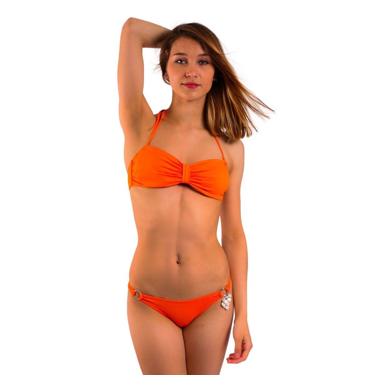 Maillot de bain Emmatika Tanga Solid Naranja Claya Orange (bas)