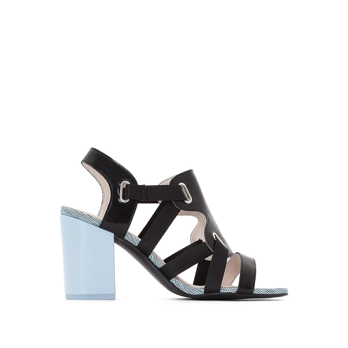 Босоножки кожаные на высоком каблуке цены онлайн