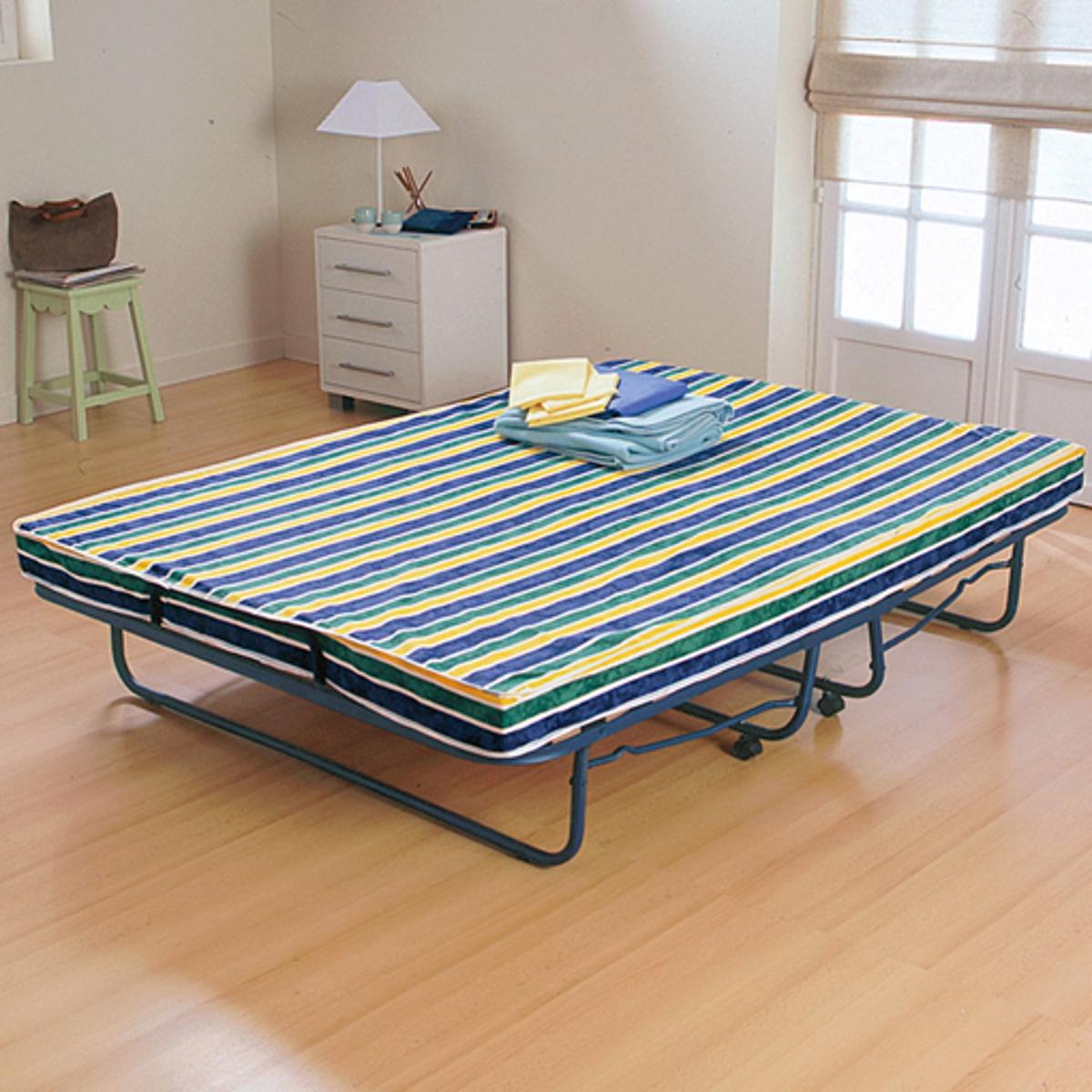 Cama plegable + somier de láminas + colchón equilibrado