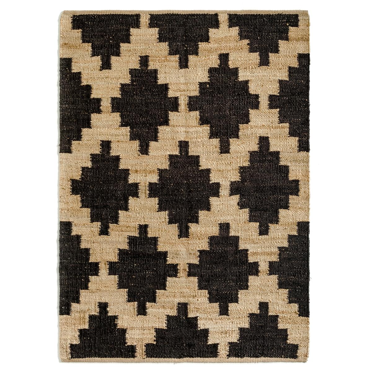 Ковер La Redoute Из джута Carbone 120 x 180 см бежевый ковер la redoute горизонтального плетения с рисунком цементная плитка iswik 120 x 170 см бежевый