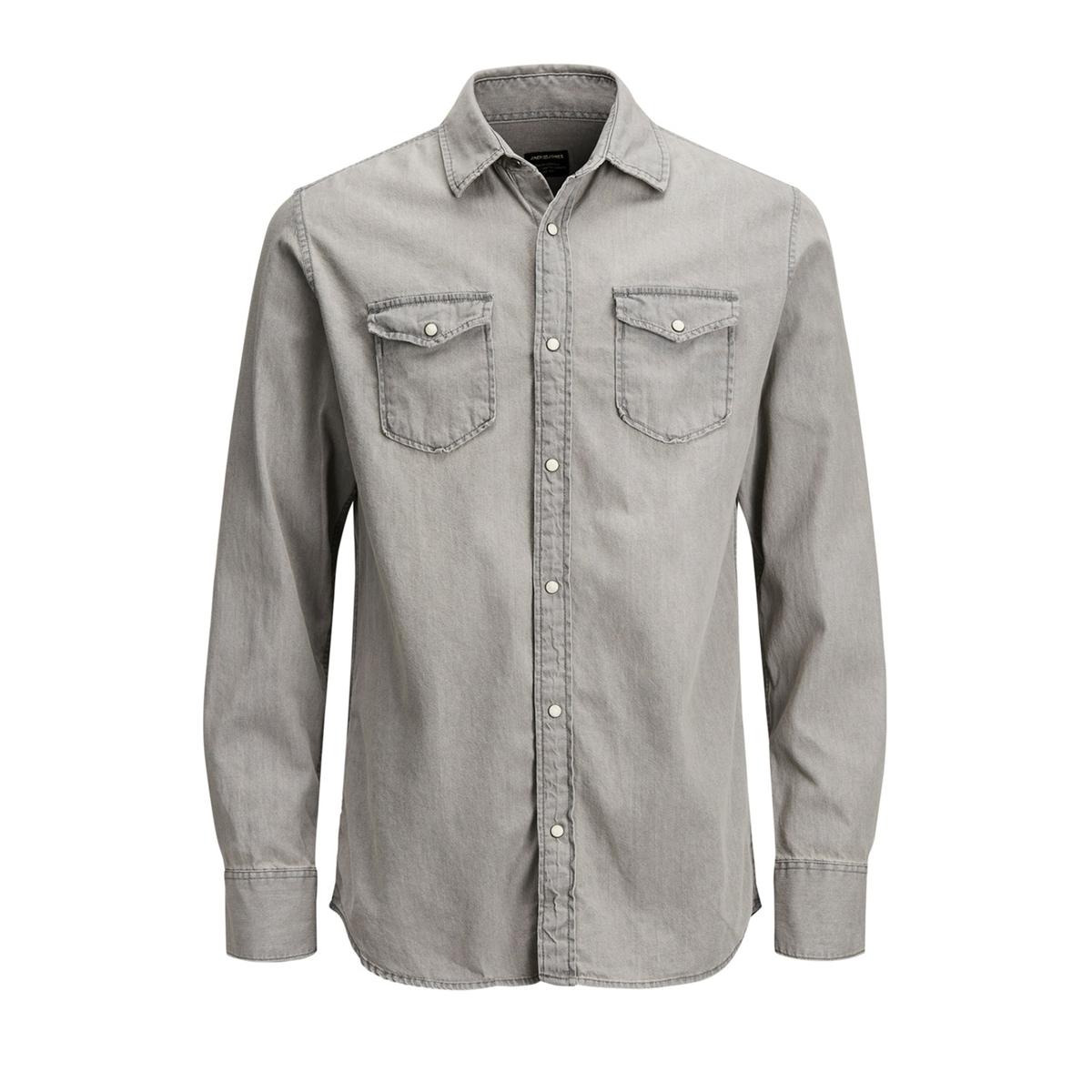 Рубашка La Redoute Джинсовая узкая Jjesheridan L серый рубашка la redoute джинсовая узкая jjesheridan s синий