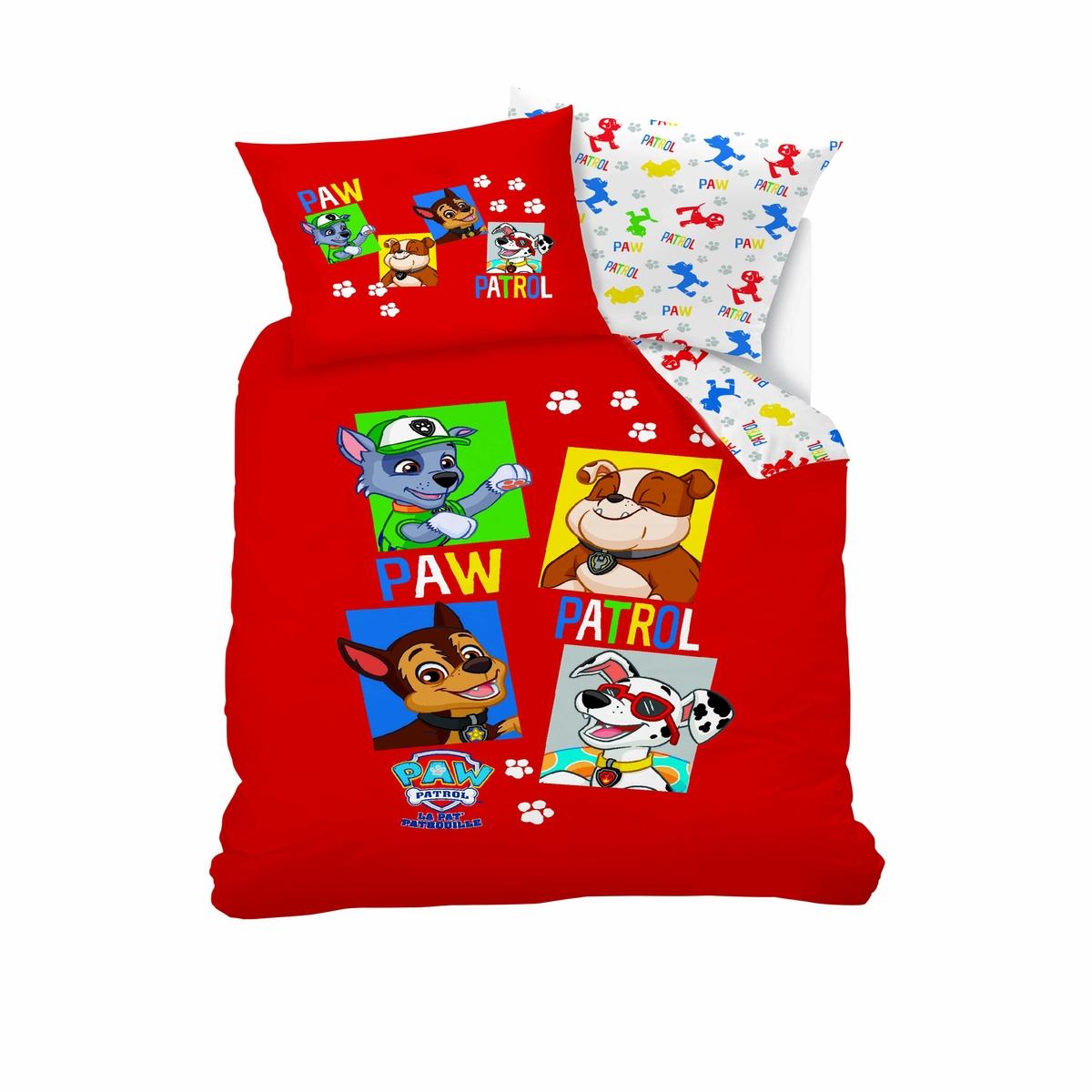 Комплект детского постельного белья: пододеяльник и наволочка Paw Patrol
