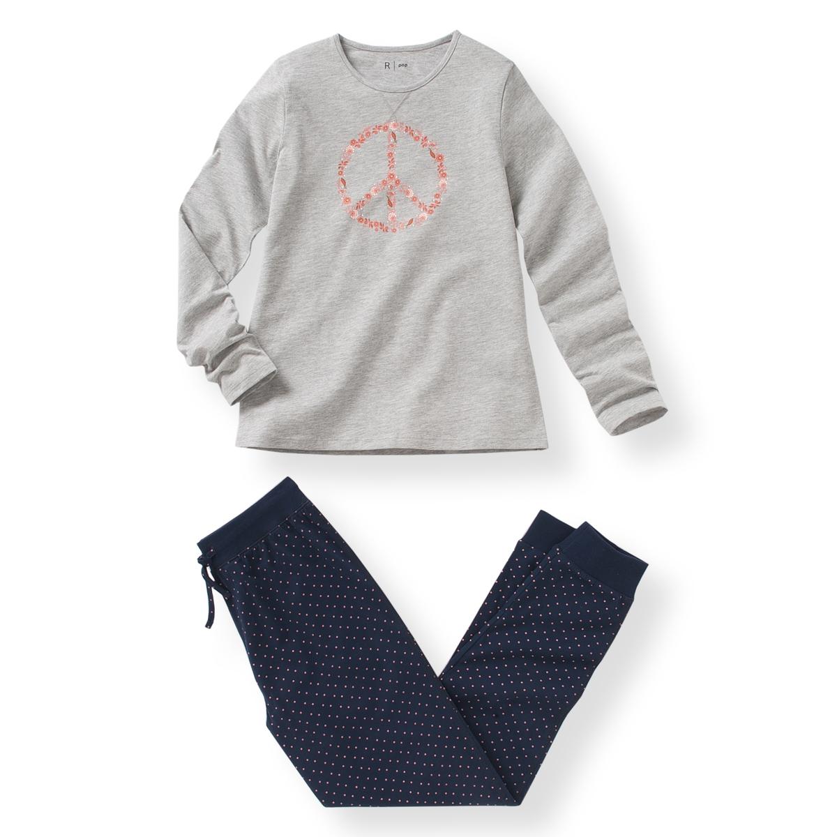 Пижама с рисунком из джерси, 10-16 лет брюки с микромотивами 10 16 лет