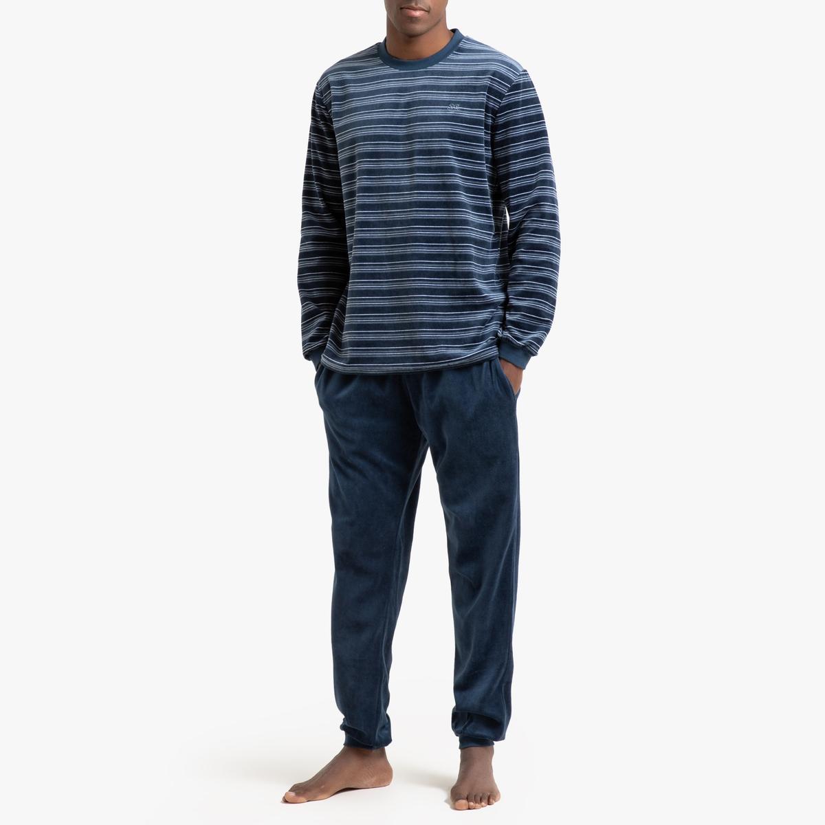 Пижама La Redoute Из велюра XXL синий халат la redoute из переработанного велюра xxl синий