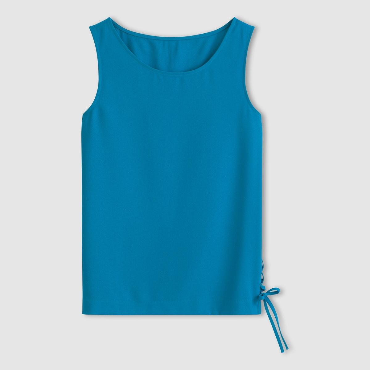 Блузка со шнуровкой сбоку, без рукавов