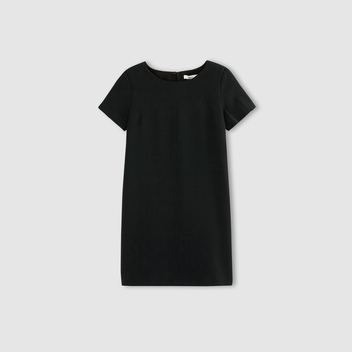 Платье с короткими рукавами  CASSANDREСостав и деталиМатериал: 100% полиэстера.Подкладка       100% вискозы     Марка          CHARLISE   Модель           CASSANDRE               Уход     Следуйте рекомендациям по уходу, указанным на этикетке изделия<br><br>Цвет: темно-синий<br>Размер: S