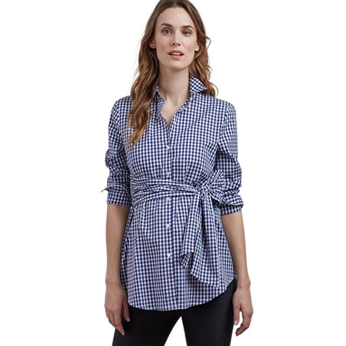 Chemise de grossesse à carreaux
