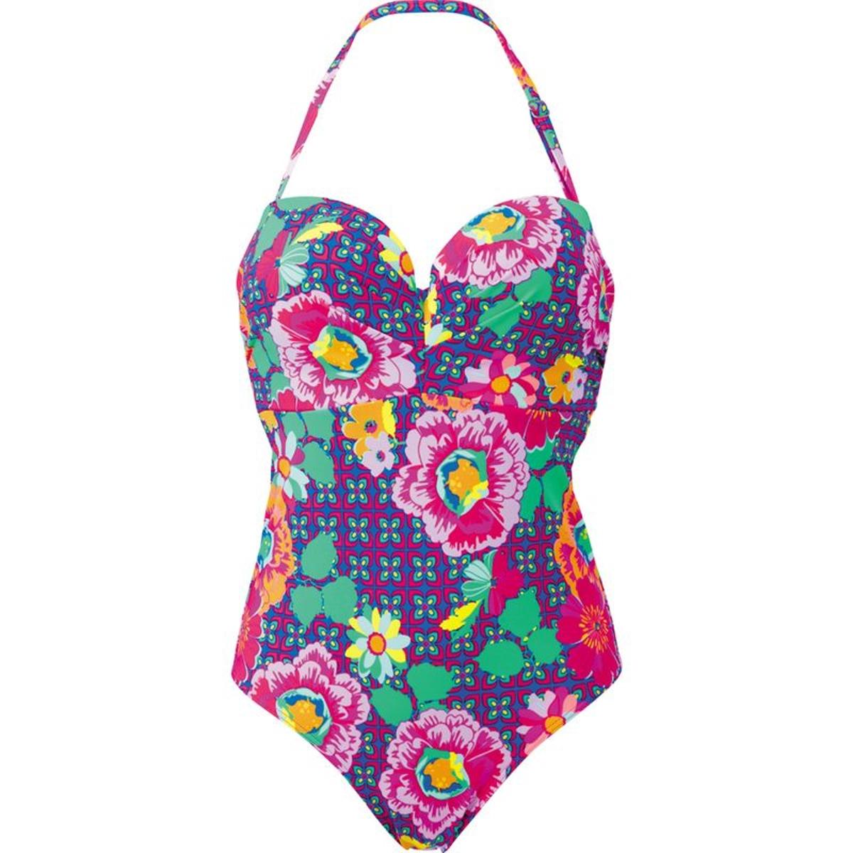 Maillot de bain une pièce bandeau à armatures Audelle SUN KISS pink multi 95 F