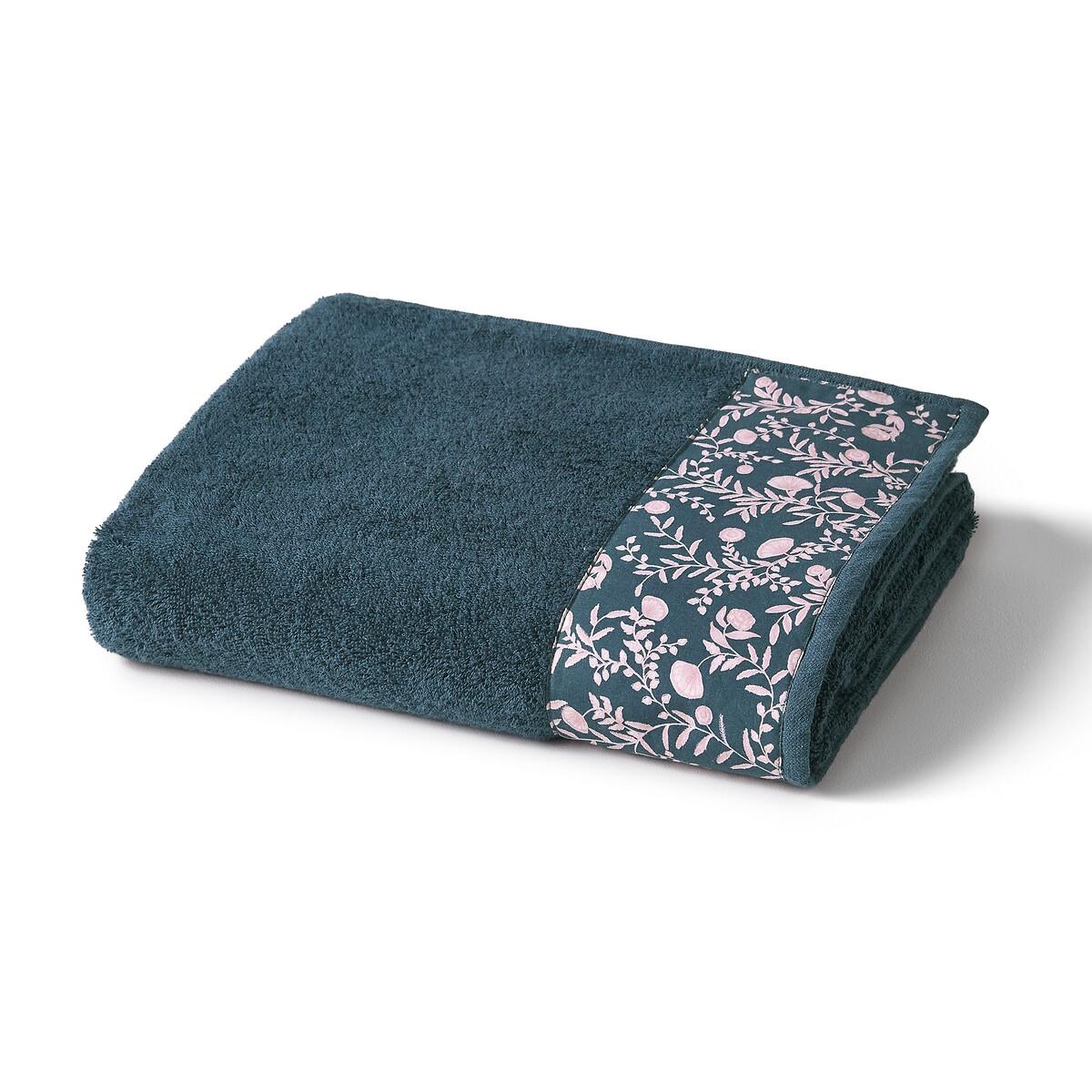 Полотенце La Redoute Банное махровое с окаймлением Vimala 70 x 140 см синий полотенце махровое вт забавный мишка цвет синий 33 х 70 см м1053 01