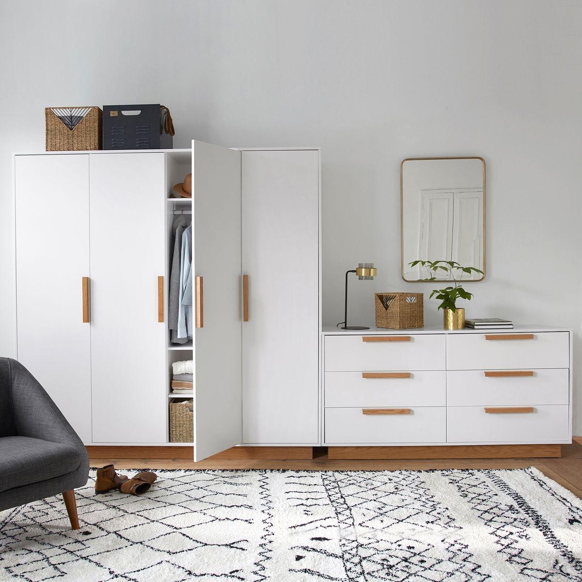 Commode 6 Tiroirs Fabi Blanc Interieurs