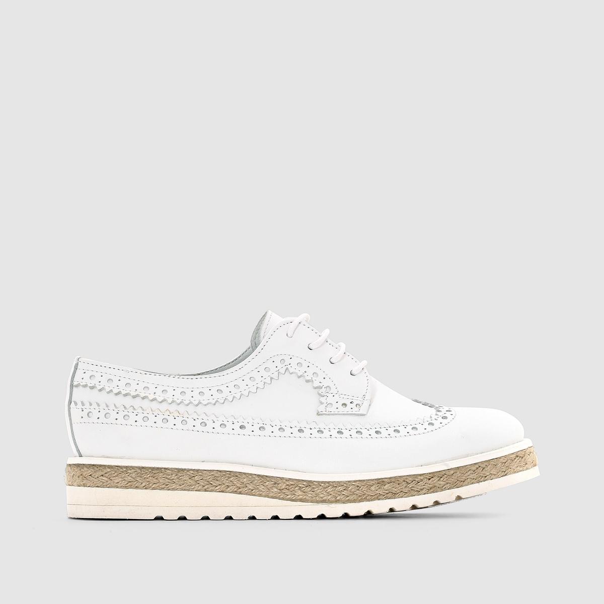 Ботинки-дерби из невыделанной кожи, на шнуровке
