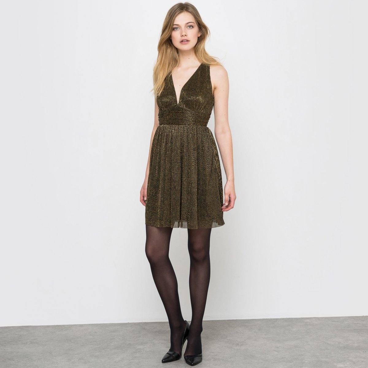 Платье Soft Grey с вырезом спереди и сзади