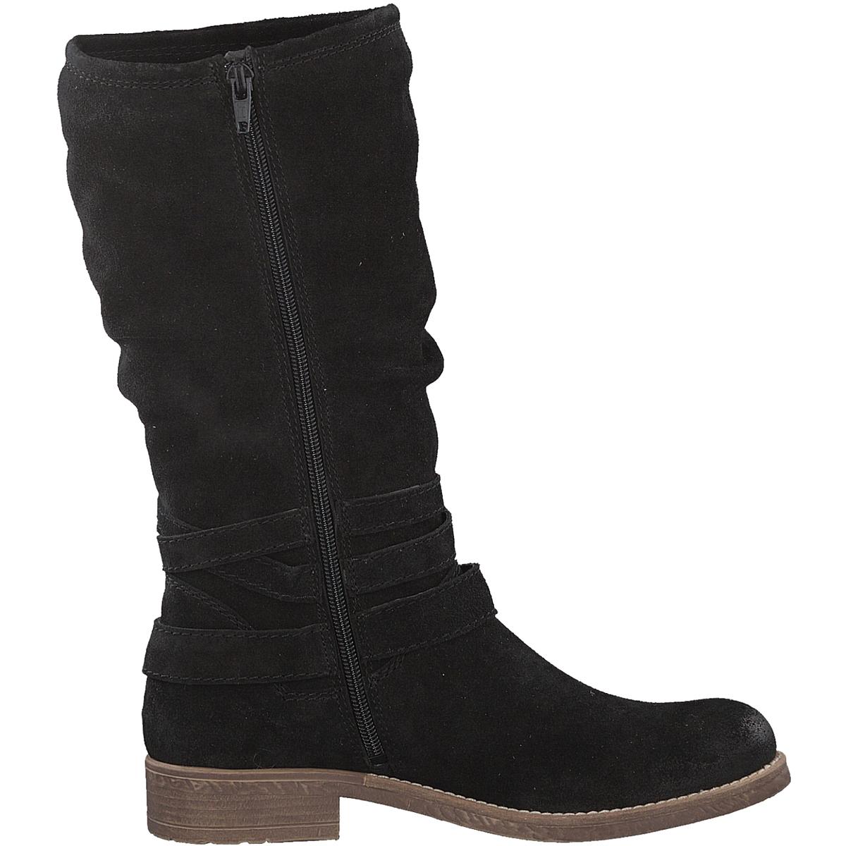 Сапоги кожаные HilaДетали •  Классическая модель •  Широкий каблук •  Круглый мысок •  Застежка : на молнию •  Высота голенища : 28 см для размера 37 •  Высота каблука : 3 смСостав и уход • Верх 100% овечья кожа •  Подкладка 100% текстиль •  Стелька 100% текстиль •  Подошва 100% синтетический материал<br><br>Цвет: черный<br>Размер: 36.38