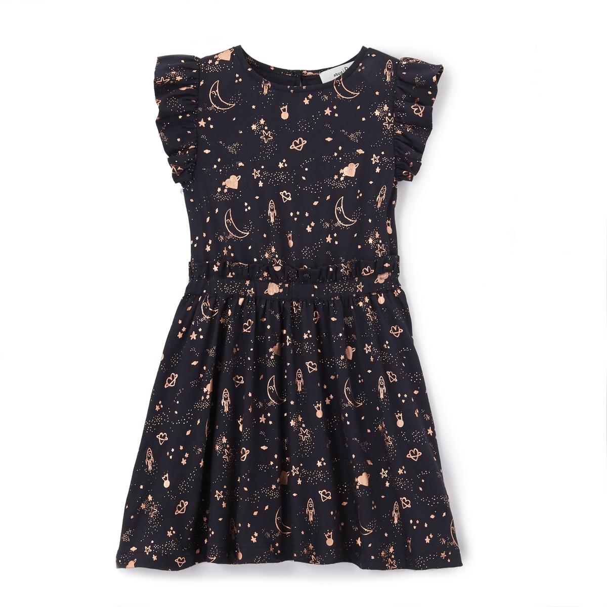 Платье с блестящим принтом 3-12 лет