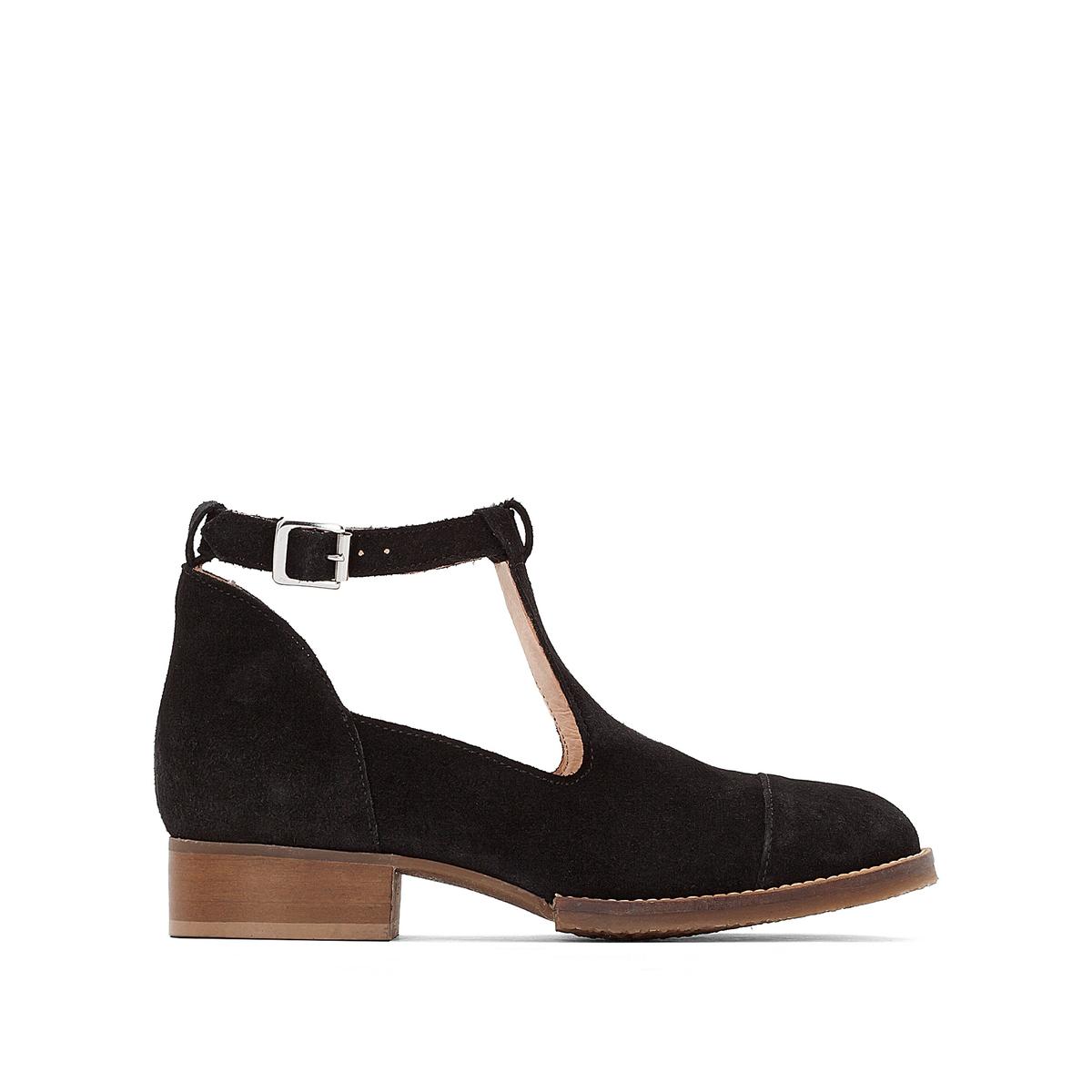 Ботинки ажурные из кожи JONAK цены онлайн