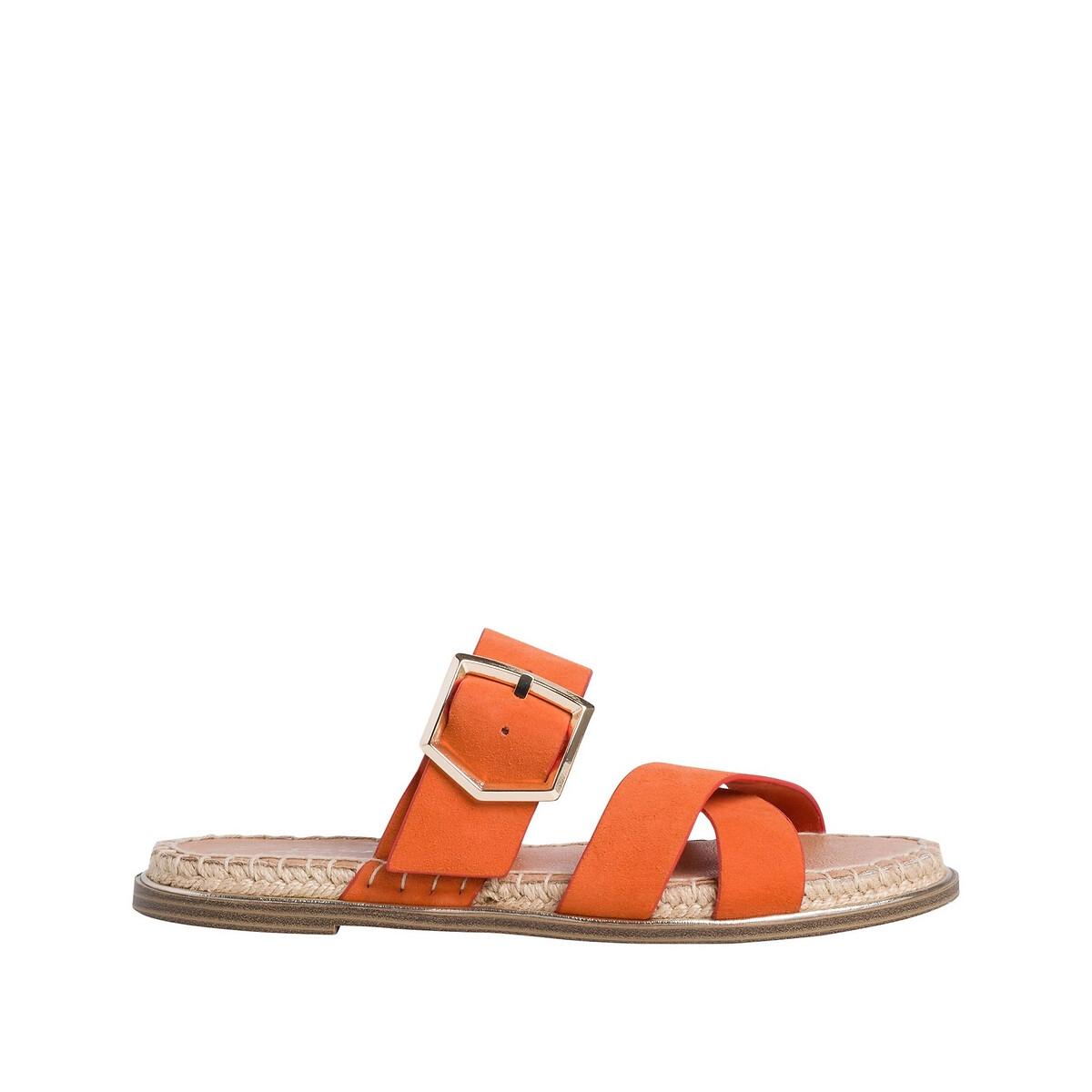 Туфли LaRedoute Без задника из кожи PHilina 37 оранжевый туфли без задника boite