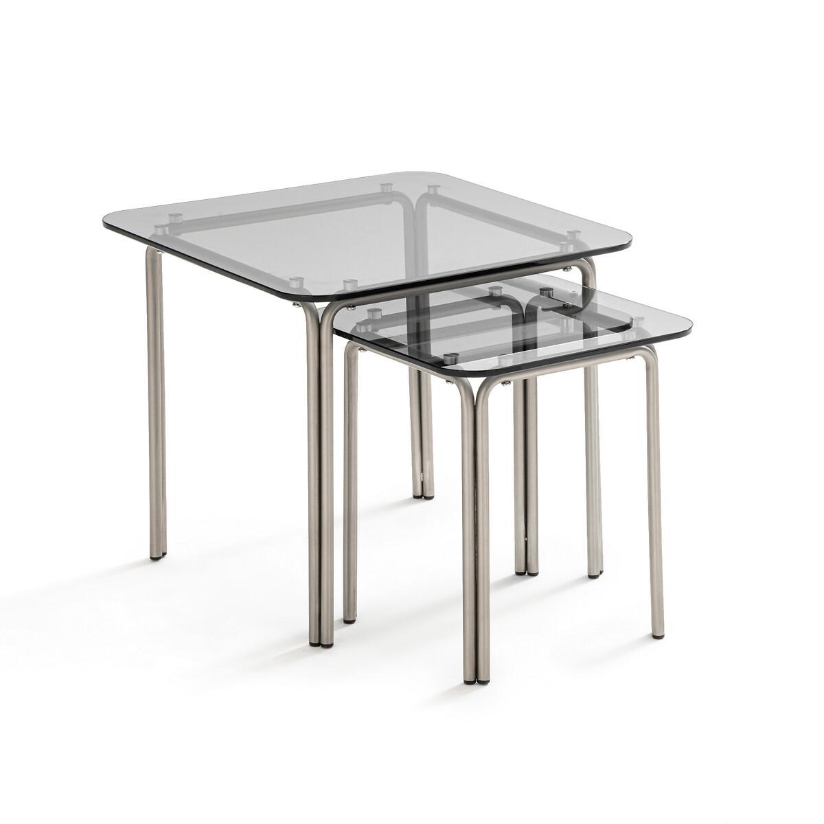 Комплект из 2 журнальных столиков-матрешек LaRedoute Neso единый размер серый