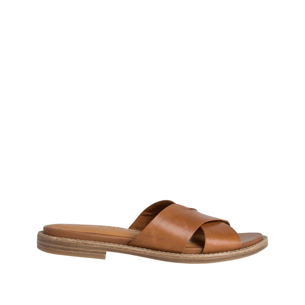 Туфли LaRedoute Без задника из кожи Dahlia 36 каштановый туфли без задника boite