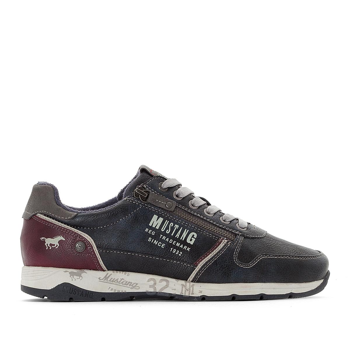 Кроссовки La Redoute — низкие на шнуровке и молнии 41 синий