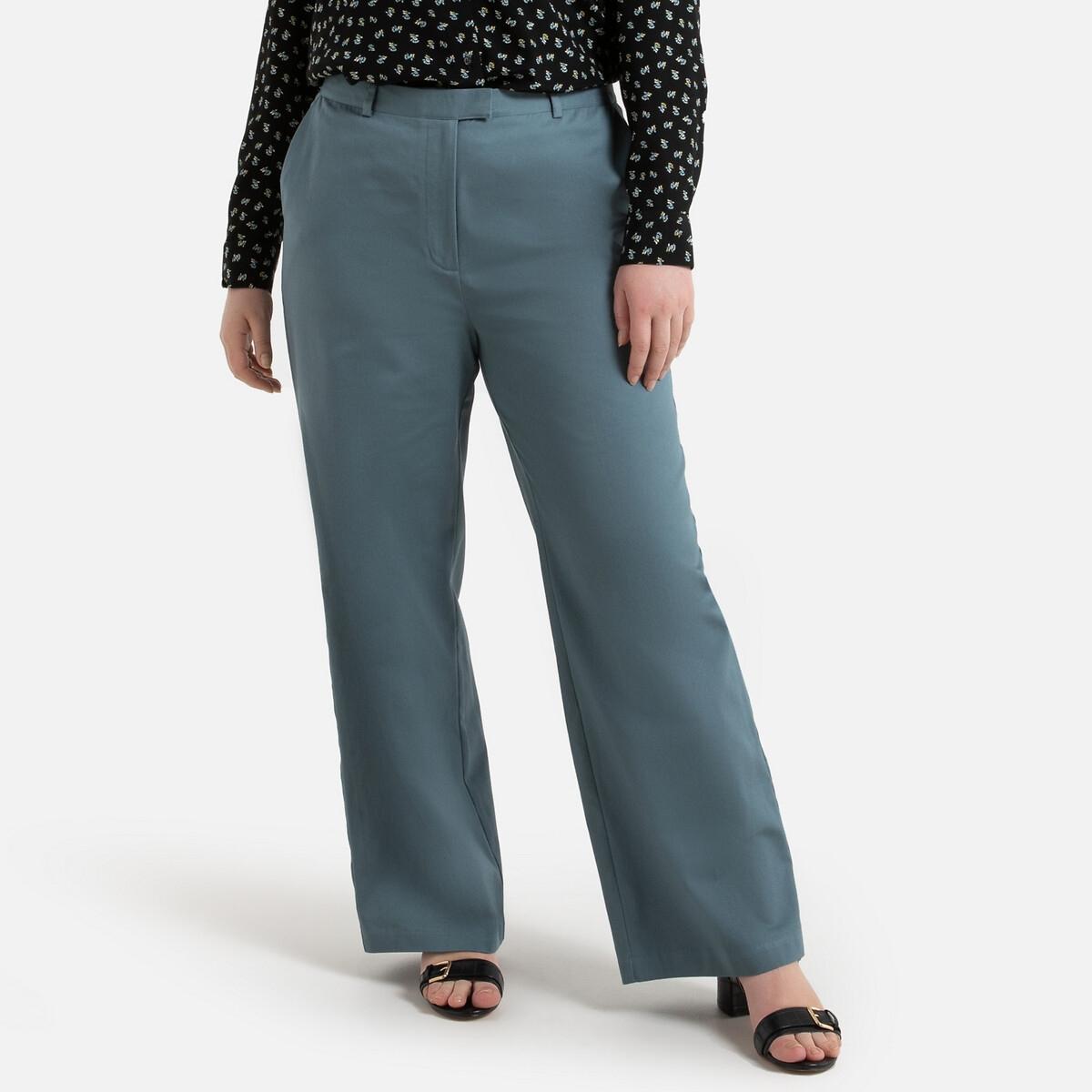 Брюки La Redoute Прямые широкие 48 (FR) - 54 (RUS) синий брюки la redoute веретенообразные из струящейся ткани 48 fr 54 rus синий