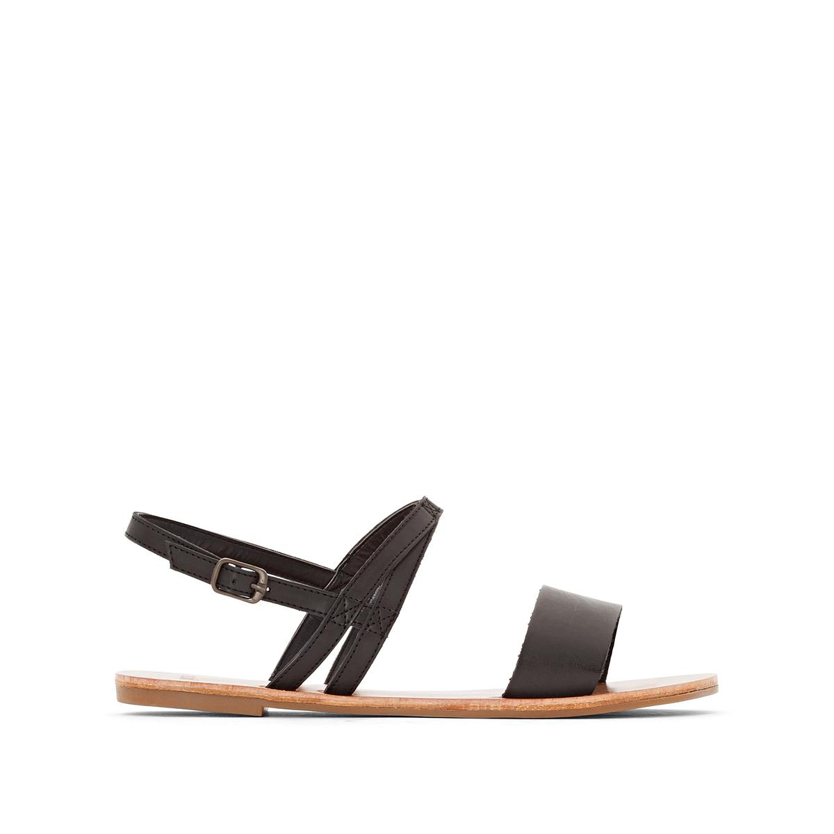Сандалии CatalinaВерх : кожа.   Стелька : кожа.   Подошва : Каучук   Форма каблука : плоский каблук.   Мысок : открытый мысок   Застежка : ремешок/пряжка<br><br>Цвет: черный<br>Размер: 37.38
