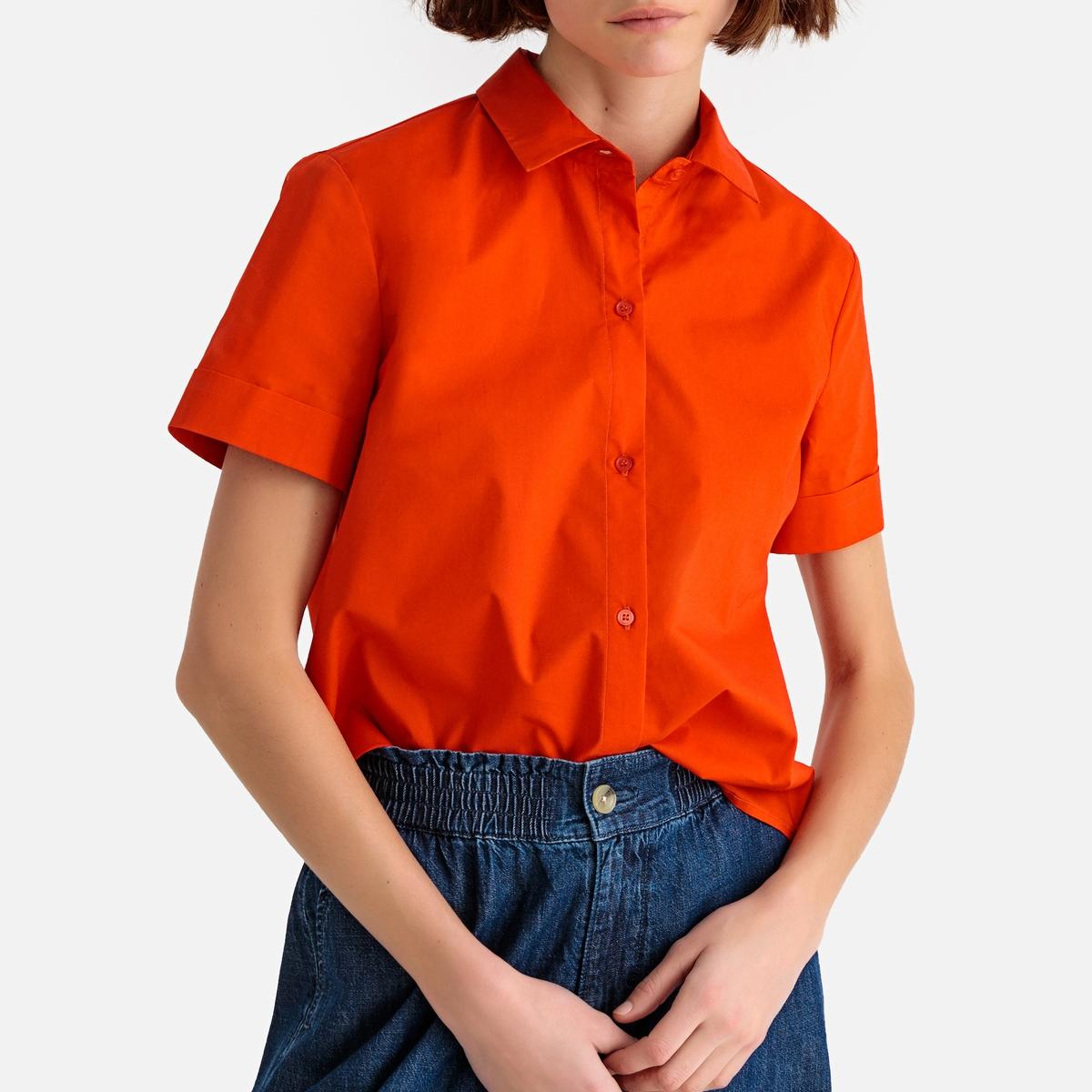 купить Рубашка La Redoute С короткими рукавами 36 (FR) - 42 (RUS) красный по цене 1049 рублей
