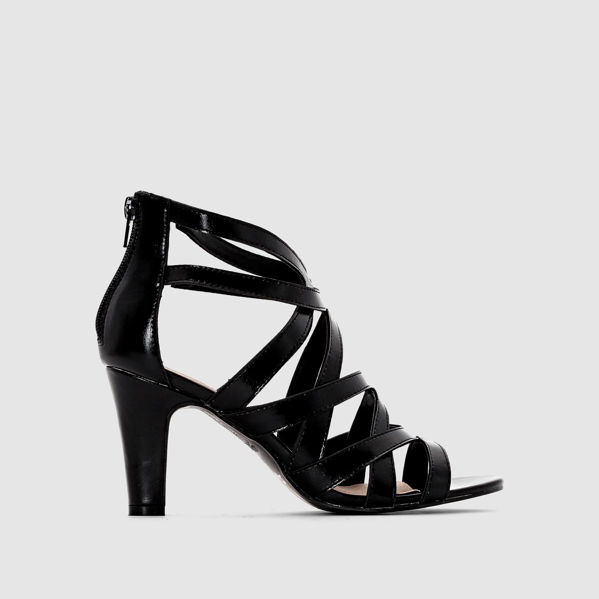 БосоножкиПлюсы модели : широкий и устойчивый каблук с кожаным покрытием, ремешок на металлической пряжке и резинка для большего комфорта .<br><br>Цвет: черный<br>Размер: 39.38