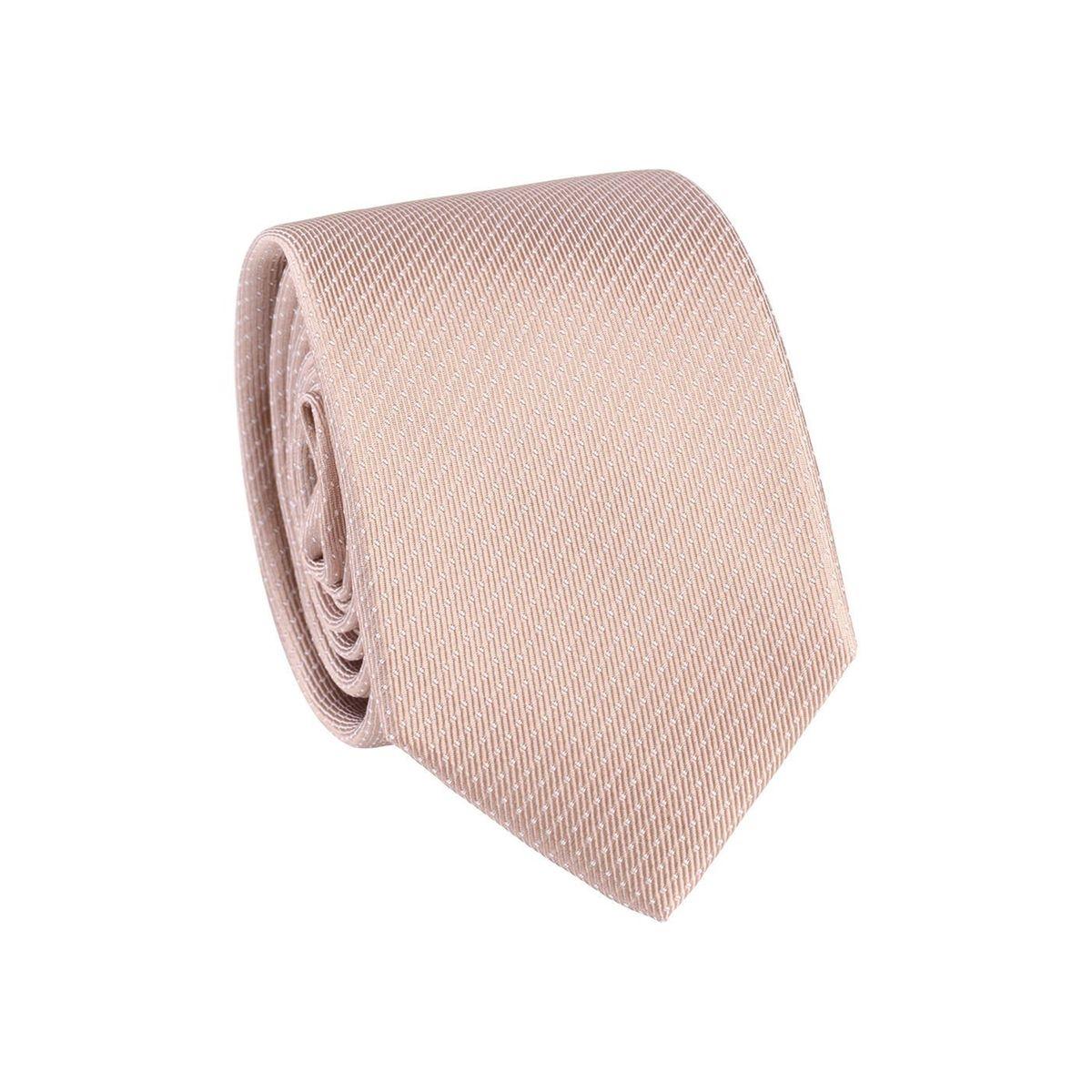 Cravate homme pois Camel / Blanc