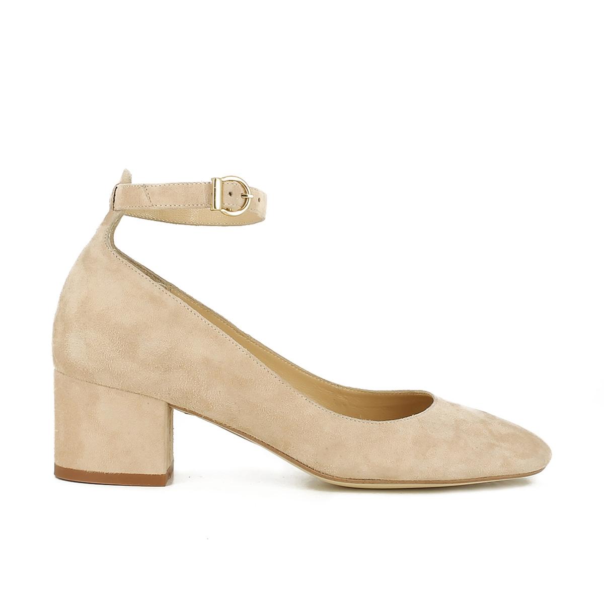 Туфли замшевые на широком каблуке, Vespa цены онлайн