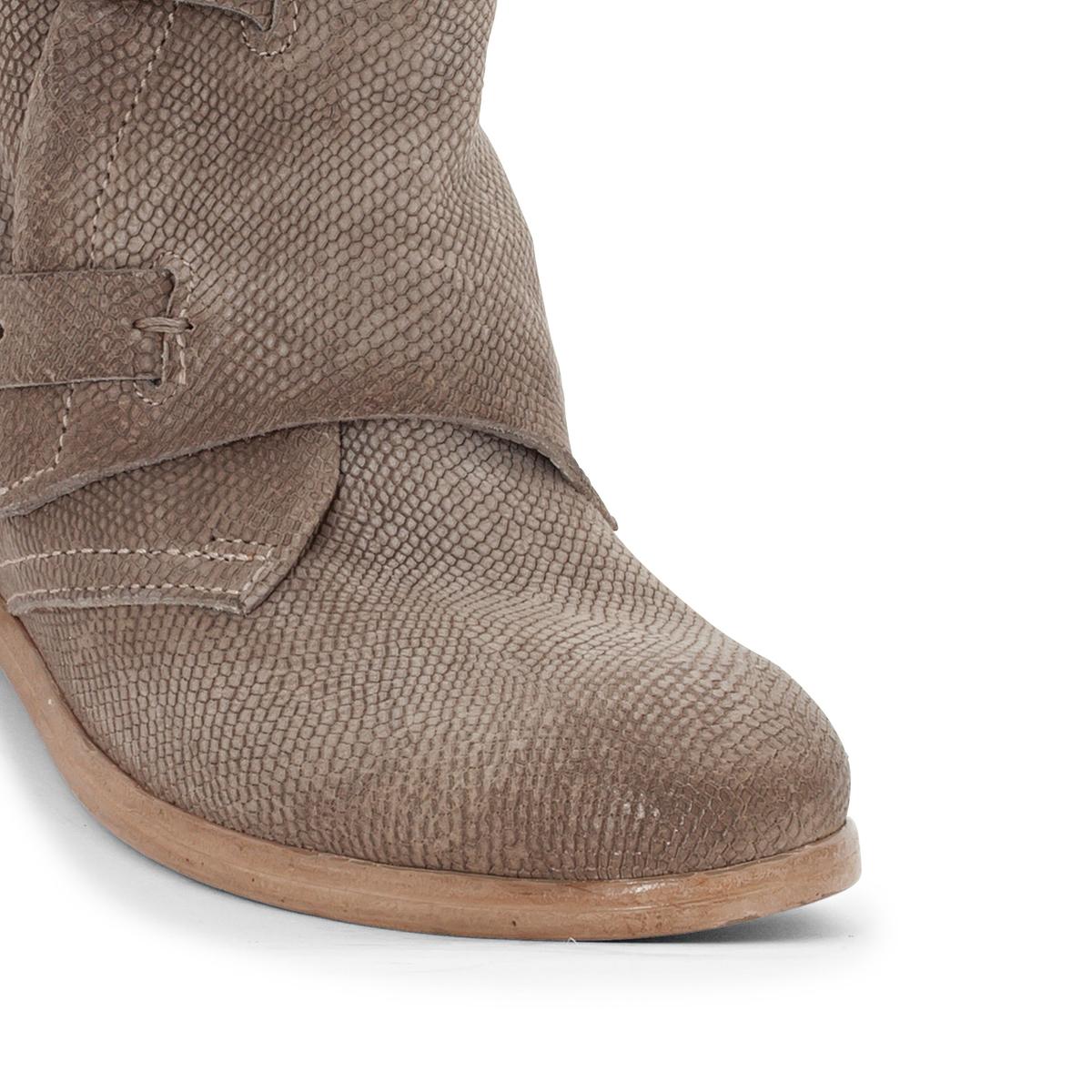 Сапоги кожаные NicoleВерх/Голенище: кожа.  Подкладка: кожа.  Стелька: кожа.  Подошва: резина.Высота каблука: 2 см.Форма каблука: плоский каблук.Мысок: закругленный.Застежка: на молнию.<br><br>Цвет: серо-коричневый<br>Размер: 40