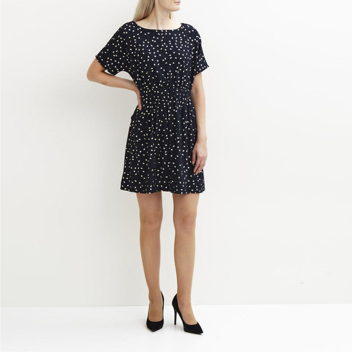 Платье VICALT NEW DRESSСостав и описание :Материал : 100% полиэстерМарка : VILA<br><br>Цвет: в горошек/темно-синий