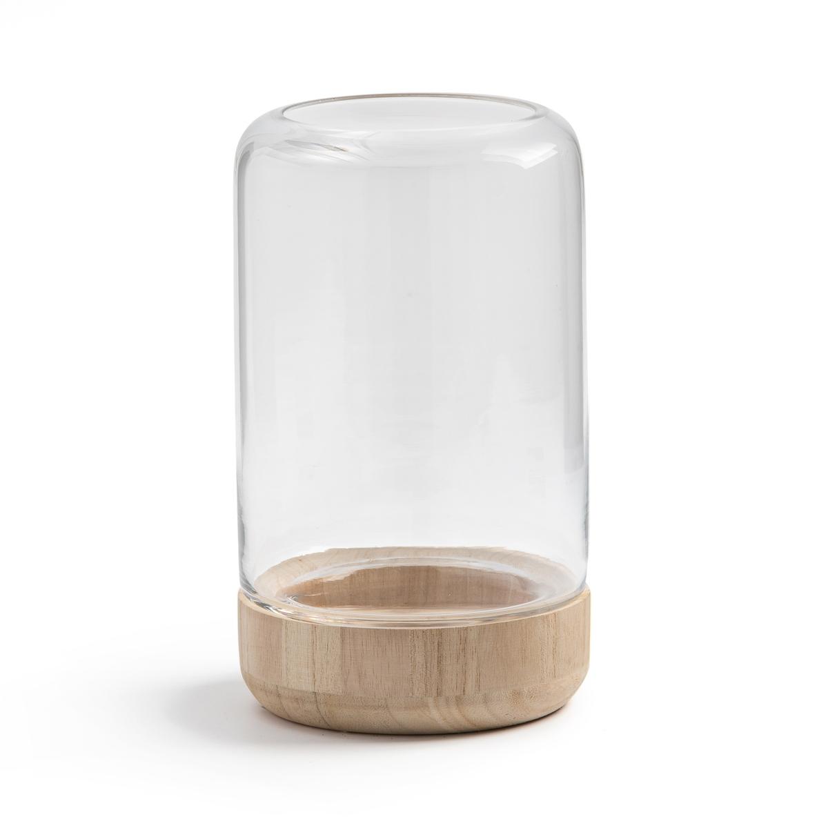 Подсвечник La Redoute Террариум из стекла и сосны Mora единый размер другие цена