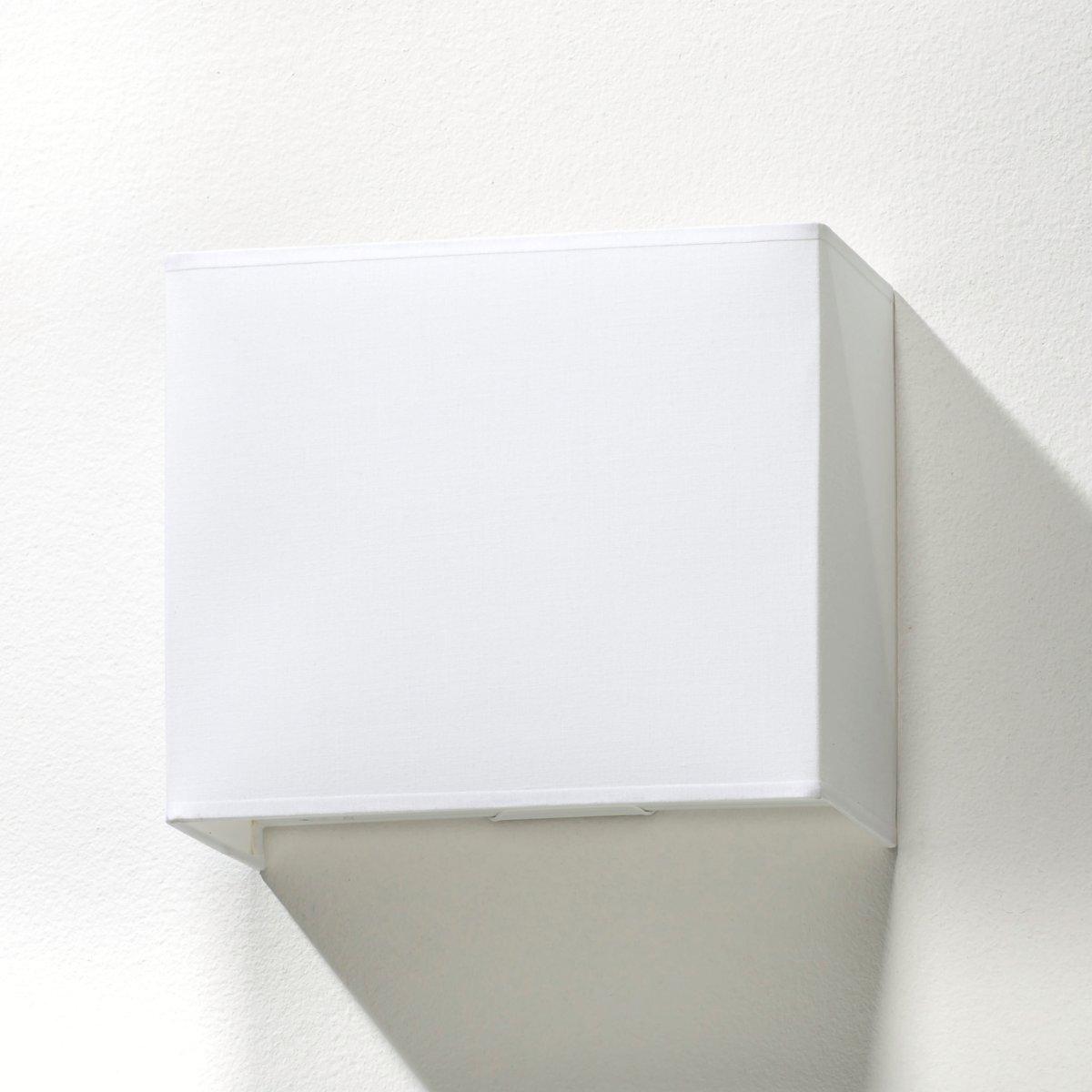 Светильник настенный прямоугольный, SioОписание светильника, SioАбажур прямоугольной формы Патрон E27 для лампочки 40W (не входит в комплект)  .Неэлектрифицированный.Характеристики светильника, SioАбажур 100% хлопок .Найдите нашу коллекцию светильников на сайте laredoute.ru.Размеры светильника, SioШирина : 24 смВысота : 20 смГлубина : 12 см.<br><br>Цвет: белый
