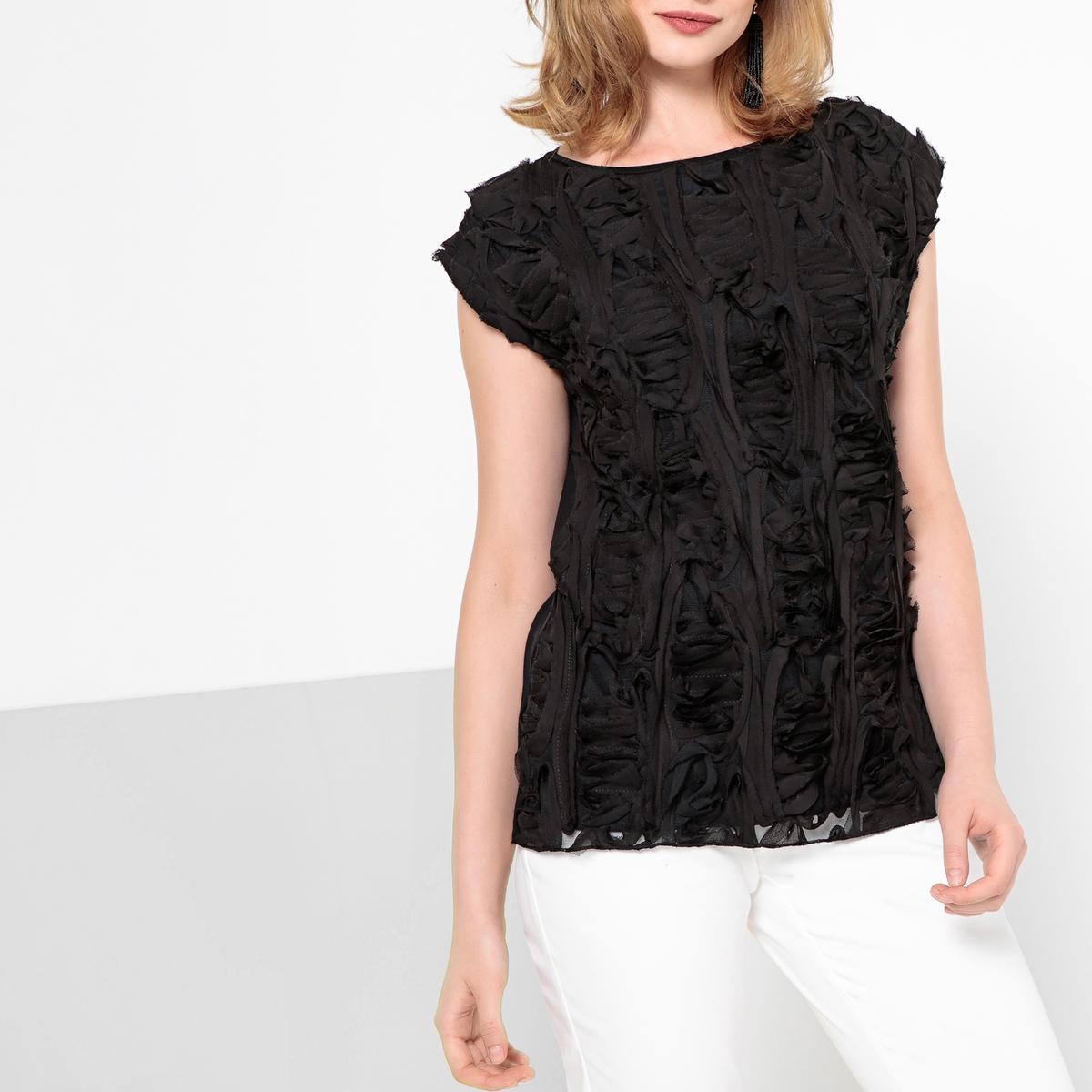 Imagen secundaria de producto de Camiseta con volante y cuello redondo, sin mangas - Anne weyburn