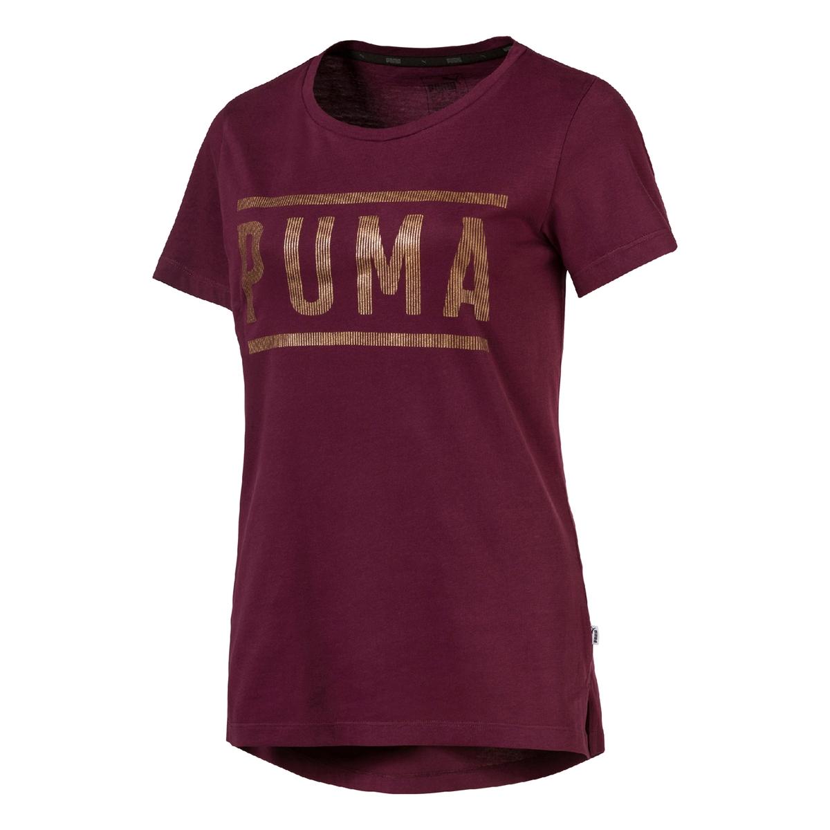 Camiseta con cuello redondo de manga corta y estampado delante