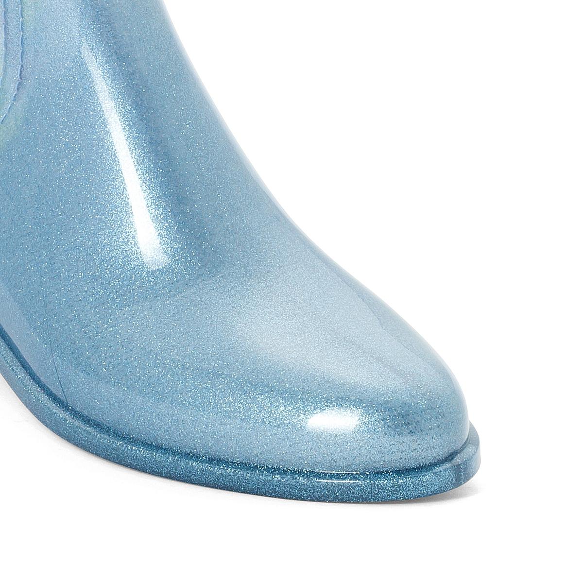Сапоги резиновые HarperВерх : каучук   Подкладка : полиамид   Стелька : синтетика   Подошва : каучук   Высота каблука : 2 см   Форма каблука : плоский каблук   Мысок : закругленный мысок   Застежка : без застежки<br><br>Цвет: синий<br>Размер: 36.37