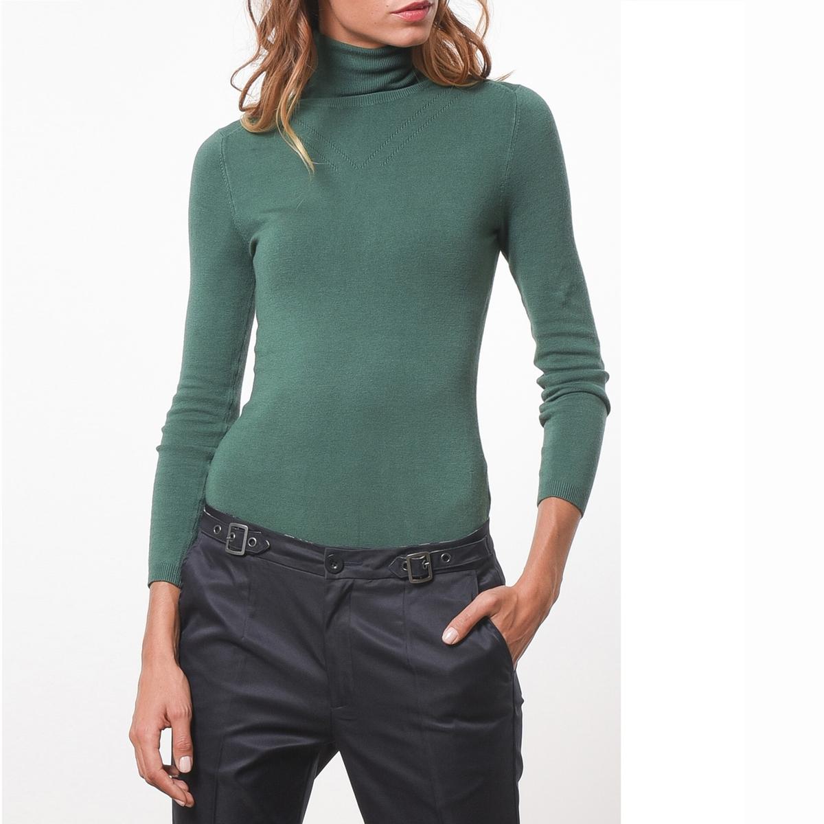 Пуловер с высоким воротникомСостав &amp; ДеталиМатериал            81% вискозы, 17% полиамида, 2% эластана      Марка            JOE RETRO          Уход     Следуйте рекомендациям по уходу, указанным на этикетке изделия<br><br>Цвет: зеленый<br>Размер: L