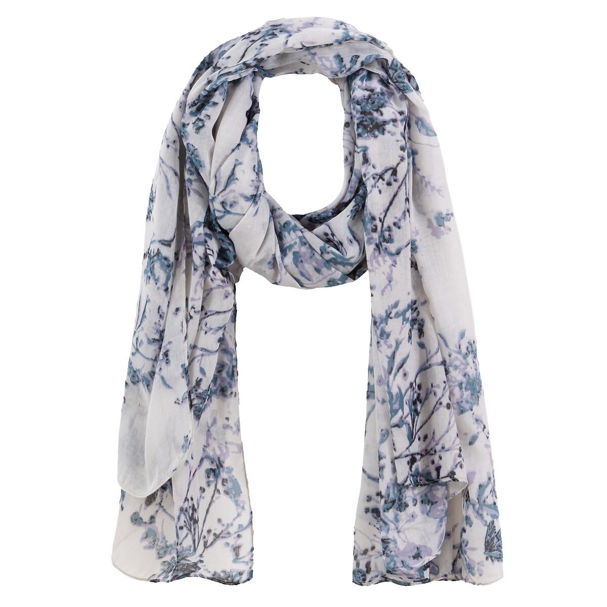 Платок La Redoute С цветочным рисунком UNI синий платок с рисунком