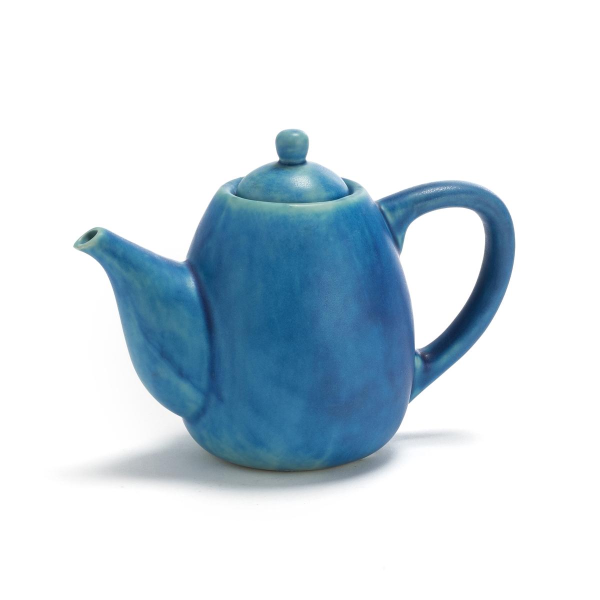 Чайник La Redoute Из керамики покрытой глазурью Akemi единый размер синий
