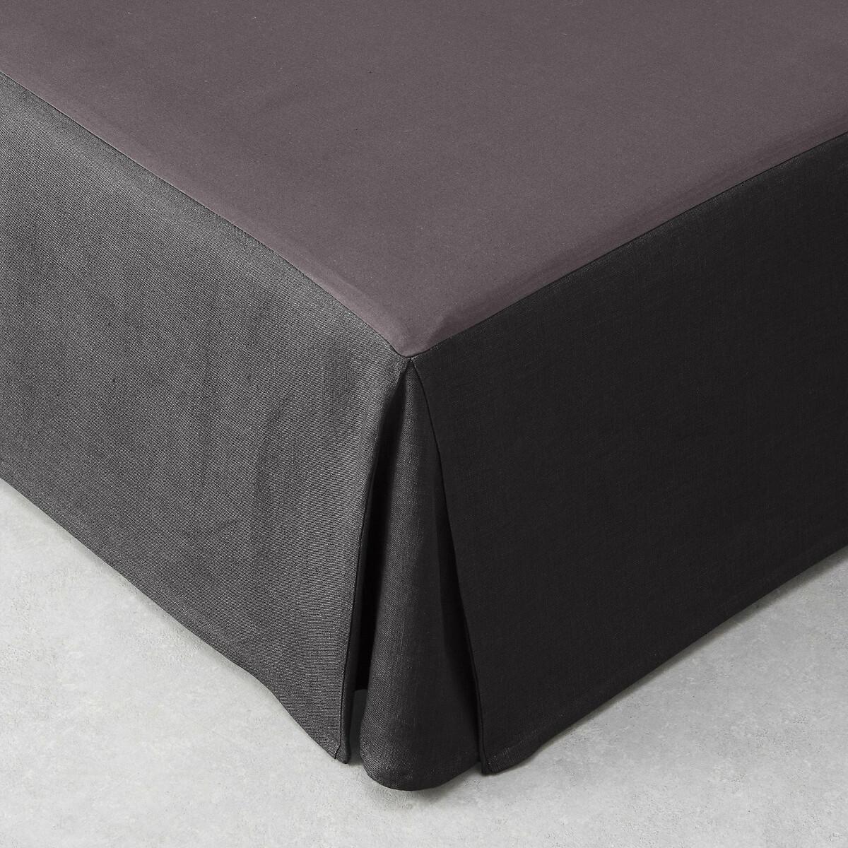 Чехол LaRedoute Для кровати из льна Touril 90 x 190 см серый чехол laredoute для кровати 100 льна 160 x 200 см белый