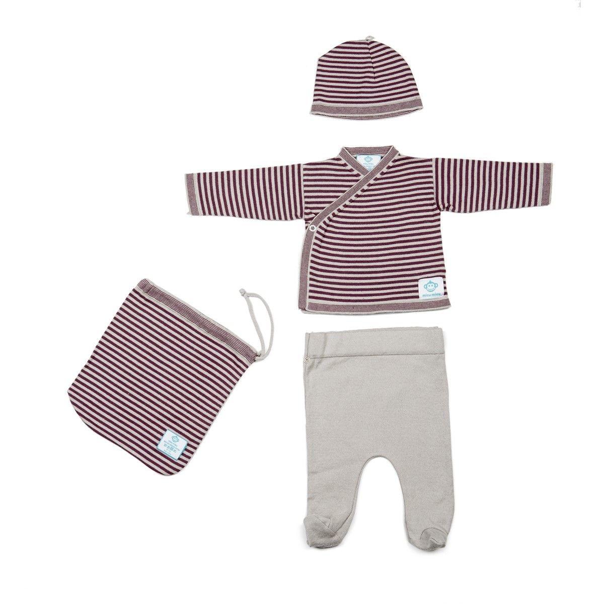 Pack pyjama nouveau-né coton bio